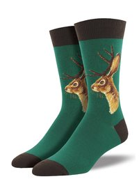 Mens - Forest Jackalope Crew Socks