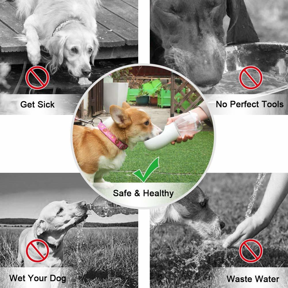 Portable Pets Drinking Water Bottle (White) image