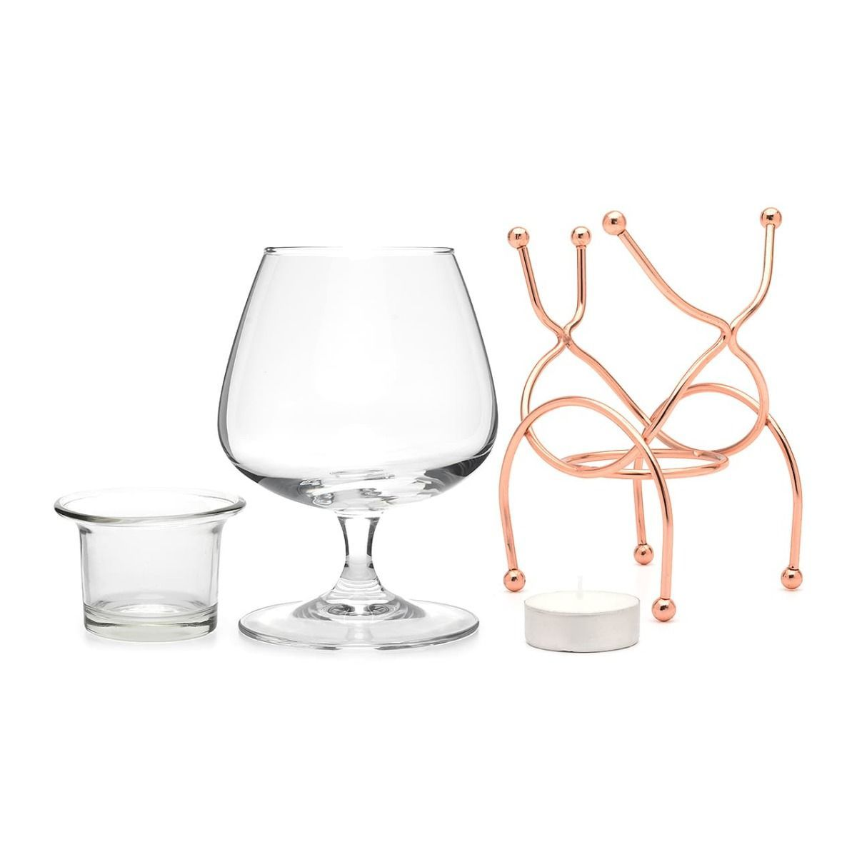 Bar Amigos Brandy Warmer Set - Copper image