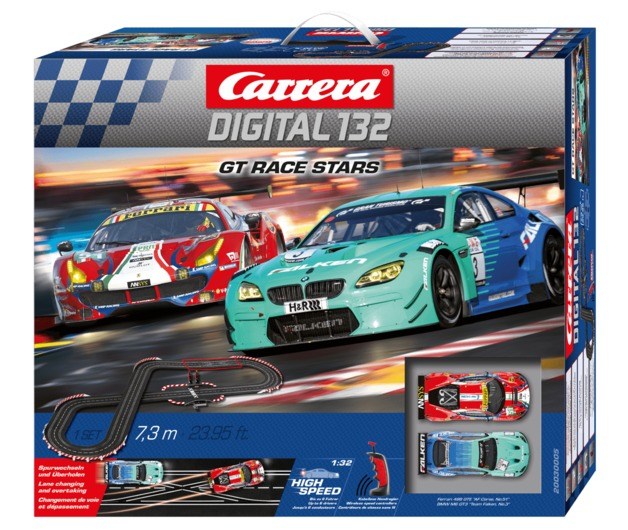 Carrera: Digital 132 - GT Race Stars Slot Car Set (Ferrari/BMW)