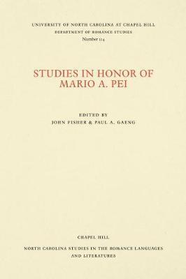 Studies in Honor of Mario A. Pei