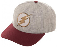 The Flash Chrome Weld Curved Snapback Cap
