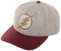 The Flash Chrome Weld Curved Snapback Cap