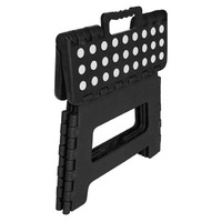 Folding Stool - Black with White Dots (small)