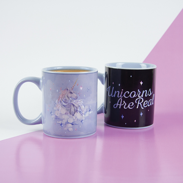 Unicorns Are Real Heat Change Mug