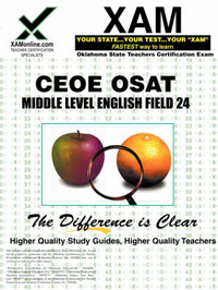 CEOE OSAT Middle Level English Field 24 by Sharon A Wynne image