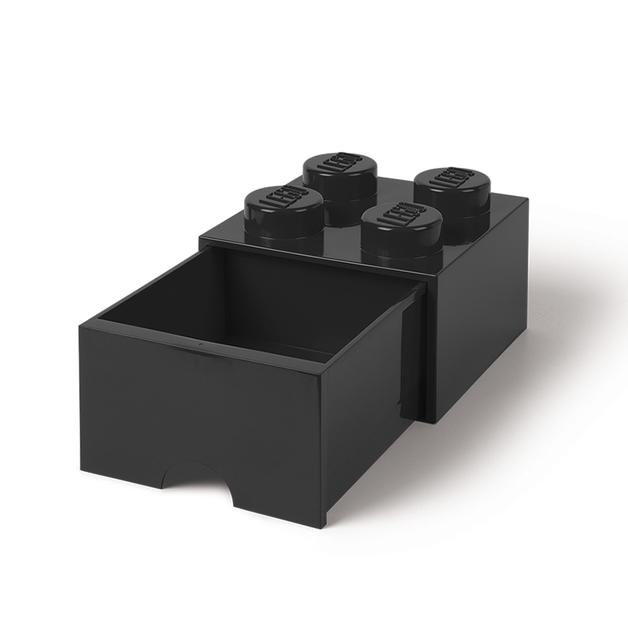 LEGO Storage Brick Drawer 4 (Black)