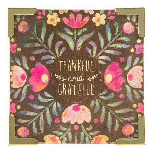 Natural Life: Corner Magnet - Thankful Grateful