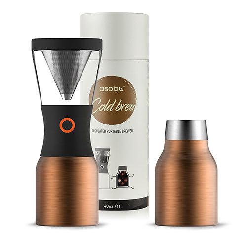 Asobu: Cold Brew Insulated Portable Brewer (Copper/Black)