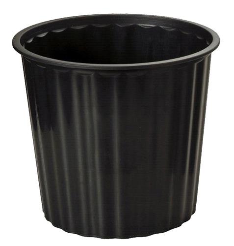 Office Supply Co: Rubbish Bin Round Fluted - Black (20L)