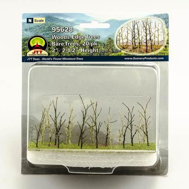 JTT: N gauge Wood Edge Trees Bare Green (20 Pack)