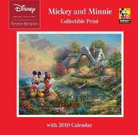 Thomas Kinkade Studios: The Disney Dreams Collection Mickey and Minnie 2019 Collectible Print Wall Calendar by Thomas Kinkade