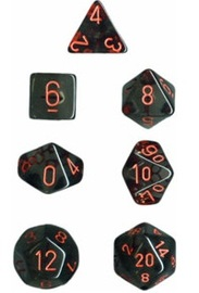 Chessex - Polyhedral Dice Set - Smoke/Red Translucent