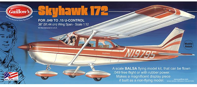 Cessna Skyhawk 172 1:12 Balsa Model Kit image