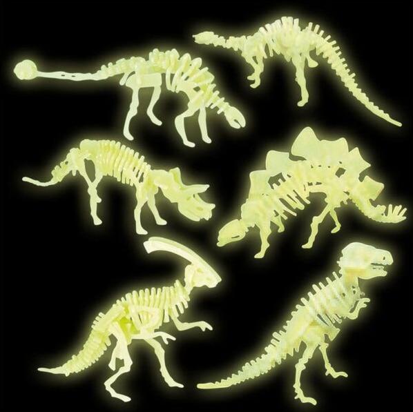 Dinosaur Glow Kits - 3D Puzzle (Assorted Designs) image
