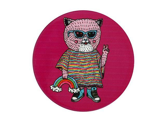 Maxwell & Williams: Mulga the Artist Ceramic Round Coaster - Cat