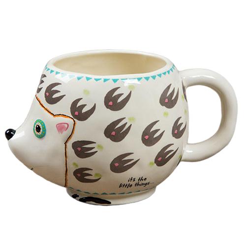 Natural Life: Ceramic Folk Mug - Friend Hedgehog