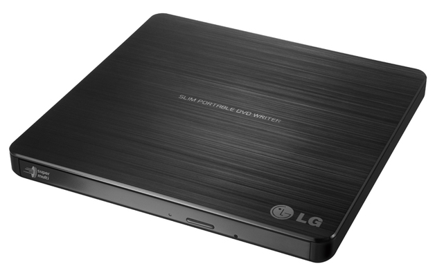 LG External Slim Portable 8X DVD Writer (USB 2.0) - Black