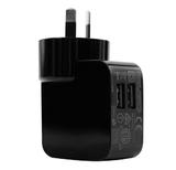 3SIXT Dual USB Wall Charger (Black)
