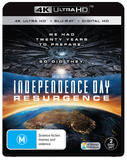 Independence Day: Resurgence on Blu-ray, UHD Blu-ray, UV