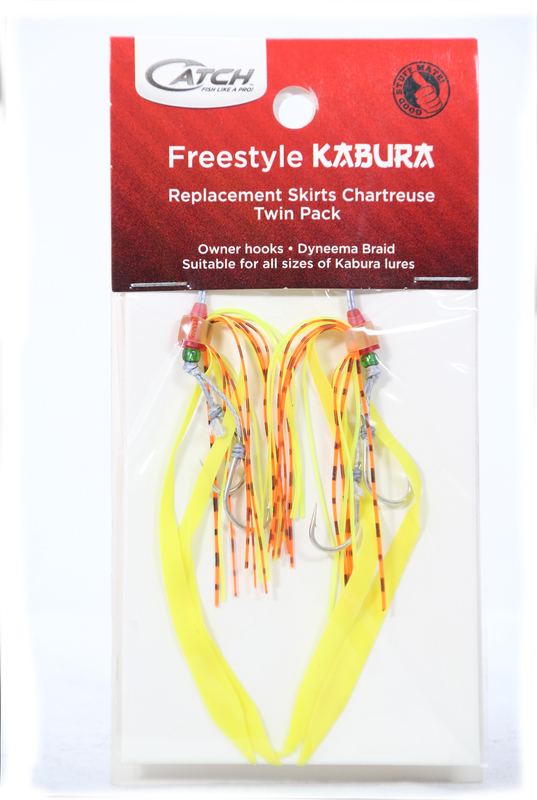 Catch Twin Pack Kabura Hook system Chartreuse