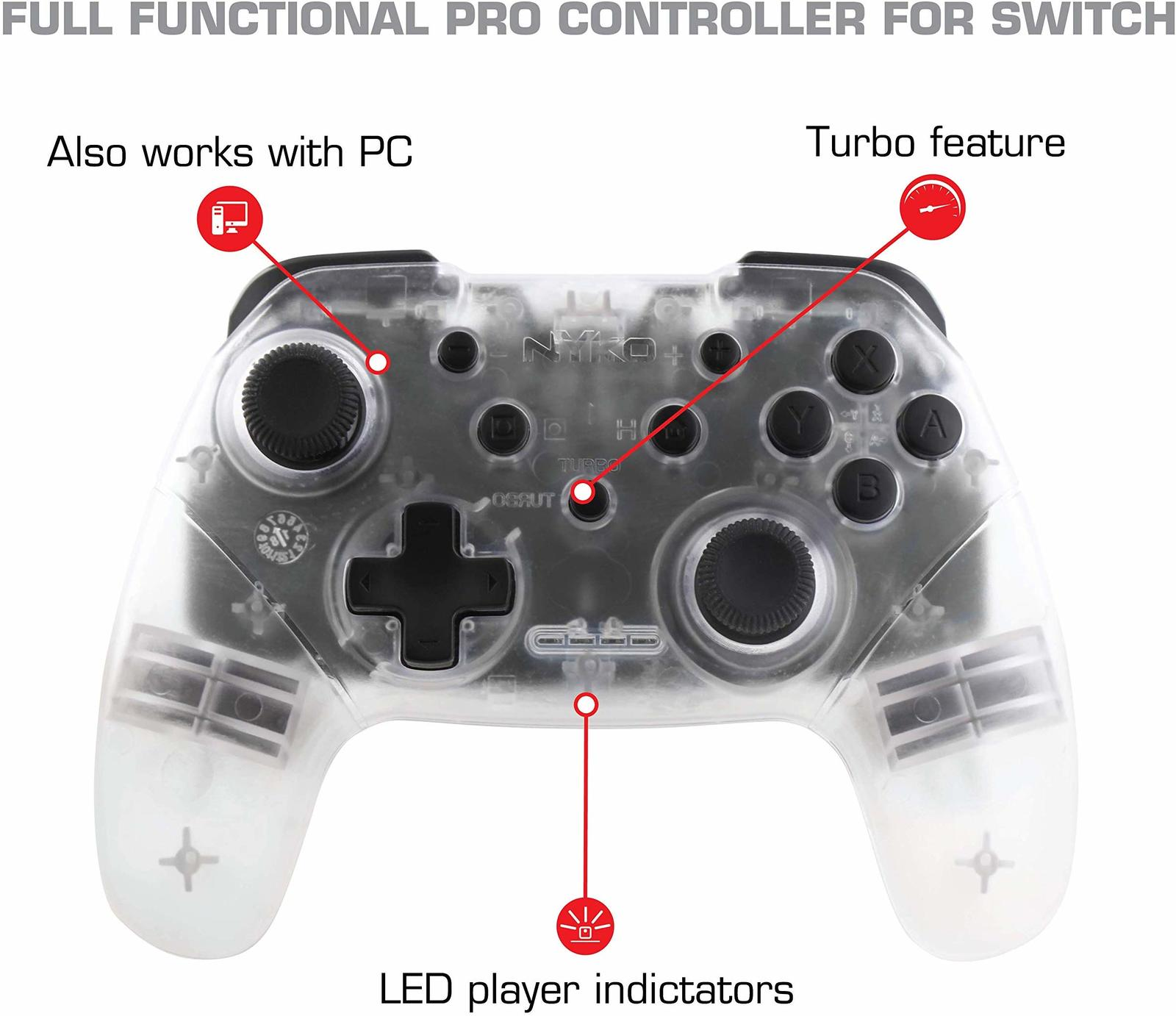 Nyko Switch Wireless Core Controller (Clear) screenshot