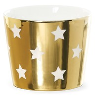 Miss Etoile: Ceramic Latte Mug - Gold/White Stars