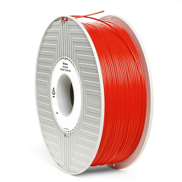 Verbatim 3D Printer PLA 1.75mm Filament - 1kg (Red)