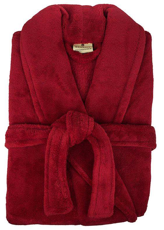 Bambury: Retreat Microplush Robe - Red M/L