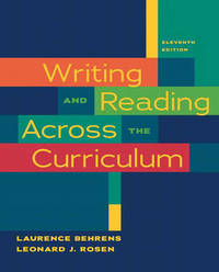 Writing and Reading Across the Curriculum by Laurence Behrens image