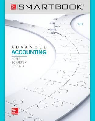 Smartbook Access Card for Advanced Accounting by Joe Ben Hoyle image