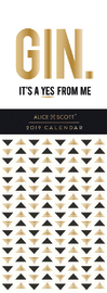 Alice Scott: Gin 2019 Slimline Calendar image