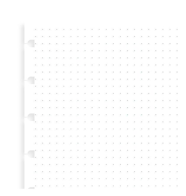 Filofax: A5 Notebook Grid Dot Journal Refill Paper