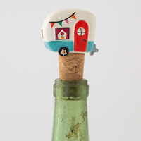 Natural Life: Bottle Stopper - Camper Be Happy
