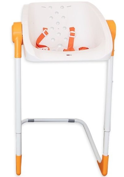 Charli: Baby Shower Chair - Orange/White