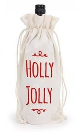 Annabel Trends Wine Bottle Bag - Holly Jolly