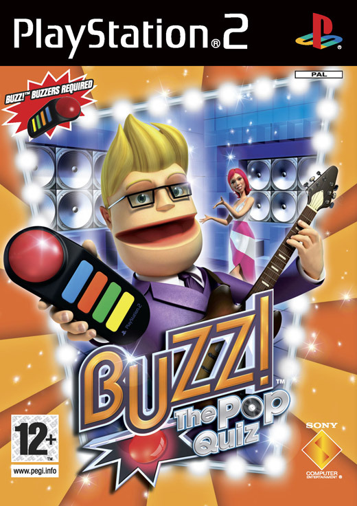 Buzz! Pop Quiz with 4 Buzzers for PlayStation 2