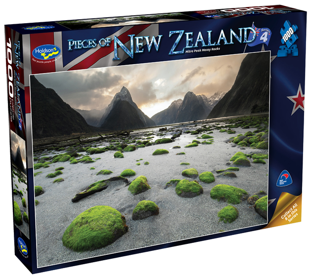 Holdson: Pieces of New Zealand - Series 4 - Mitre Peak Mossy Rocks - 1000 Piece Puzzle