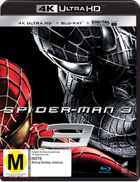 Spider-Man 3 on Blu-ray, UHD Blu-ray, UV
