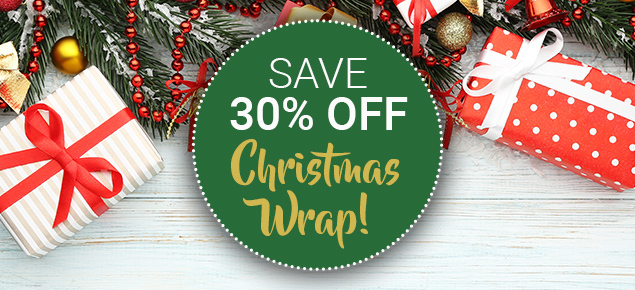 30% off Christmas Wrap, Bags, Tags & Labels!