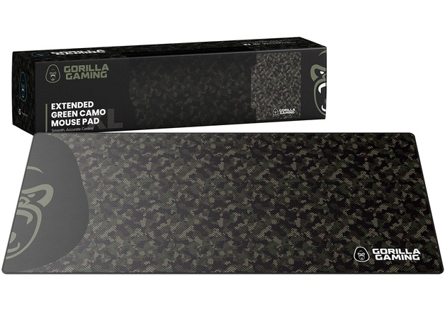 Gorilla Gaming Extended Mouse Pad - XL (Green Camo) for PC