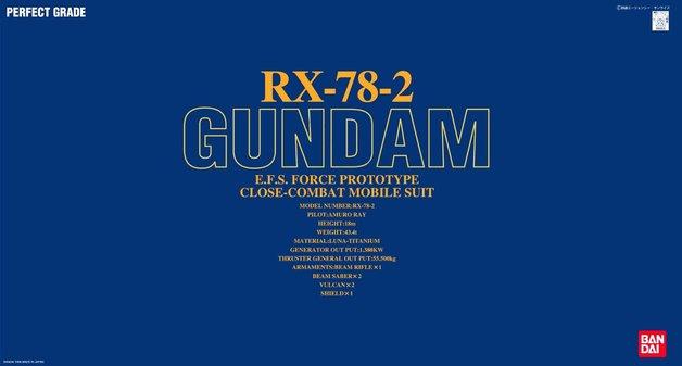 PG 1/60 RX-78-2 Gundam - Model Kit