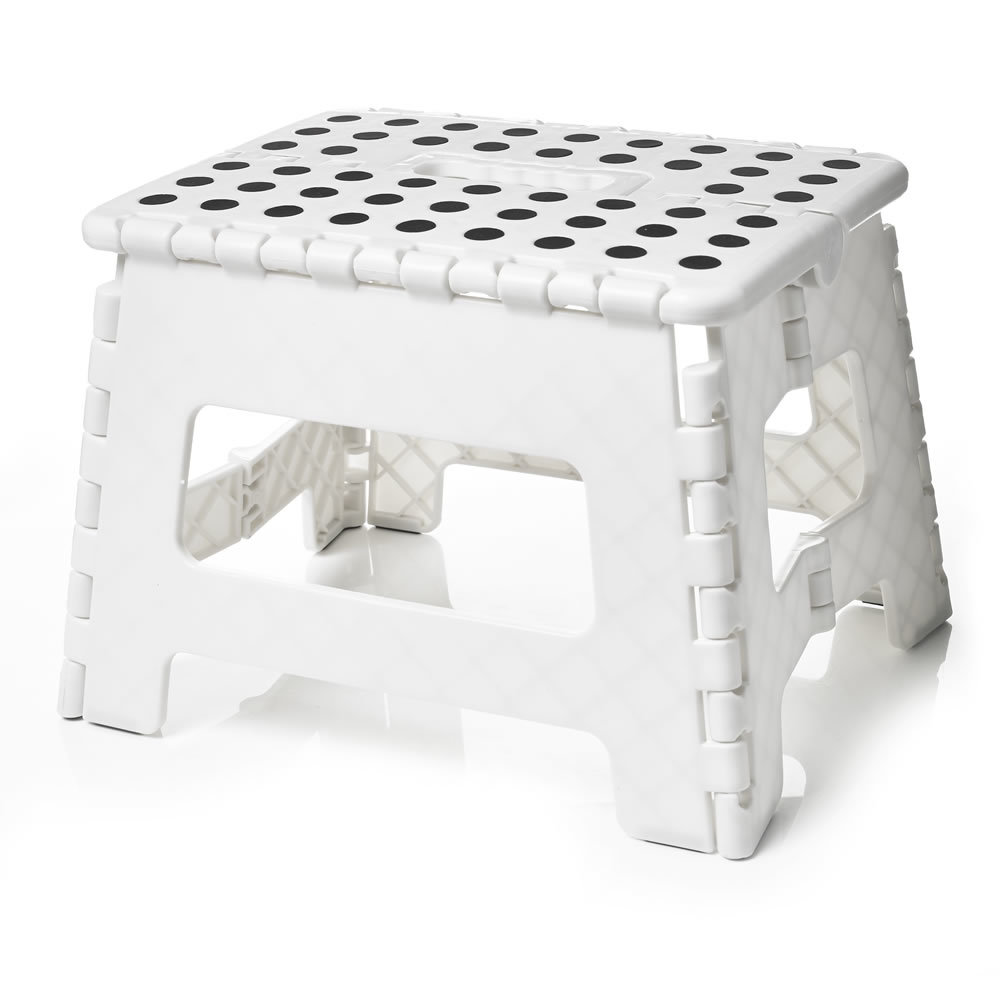 Folding Step Stool White At Mighty Ape Nz