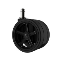 """Vertagear Racing Series 75mm/3"""" Caster Black Edition - 1 set (5 casters) for"""