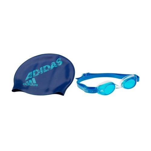 Adidas Goggles - Kids Blue/Cyan Goggle/Cap