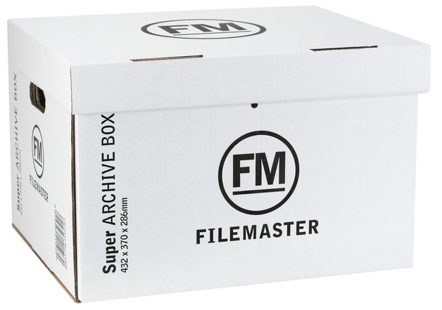 FM Jumbo Super Strength Archive Box (White)