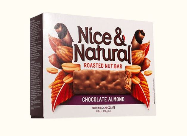 Nice & Natural Roasted Nut Bar - Chocolate Almond (180g)