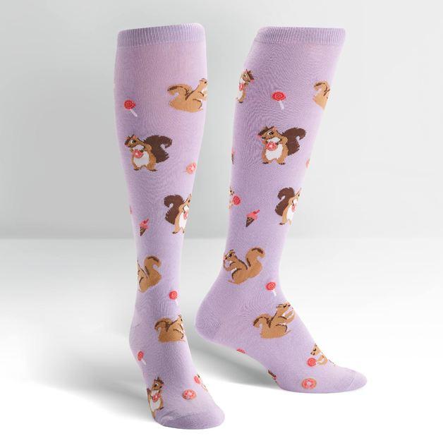 Women's - Squirreling Around Knee High Socks