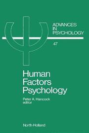 Human Factors Psychology: Volume 47