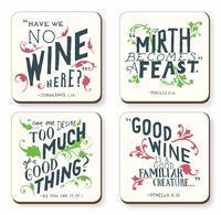 Wine & Mirth Coaster (Set Of 4)